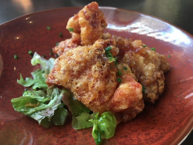 Kara-age, pollo frito marinado en sake. Restaurante Tori-key @Rosa Rivas