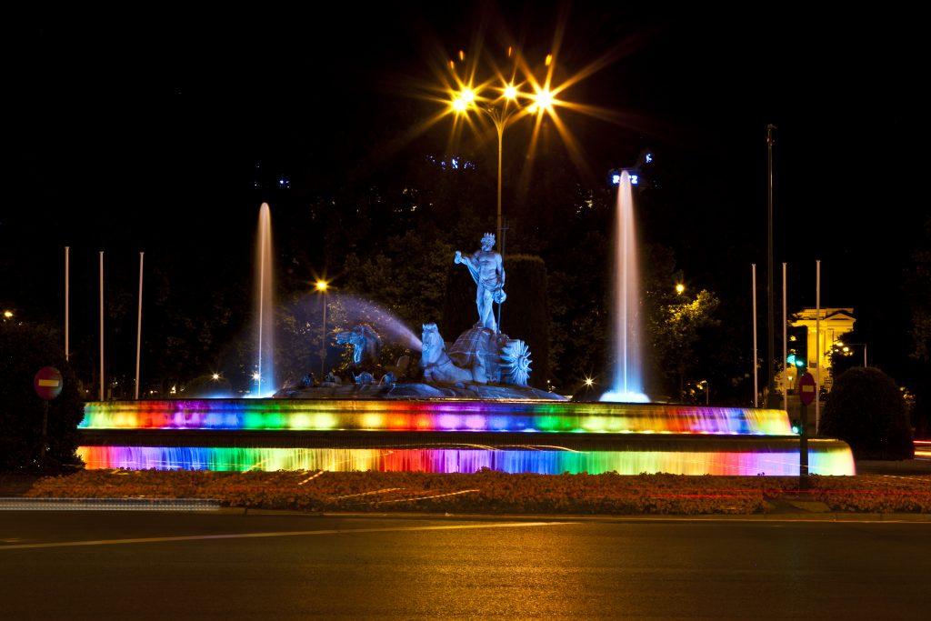 Neptuno Iluminado. / Worldpride Madrid