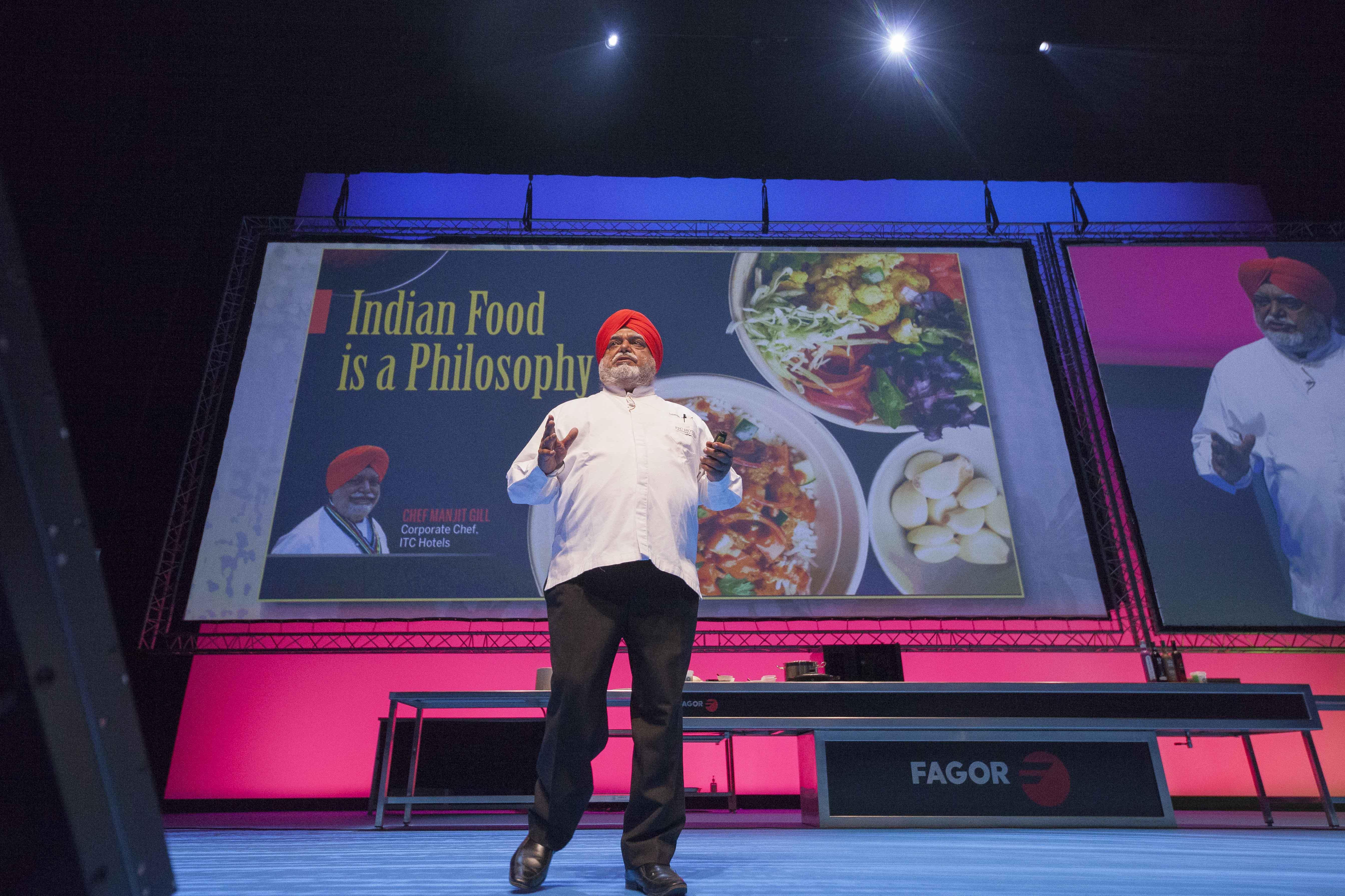 El chef Manjit Singh Gill en San Sebastián Gastronomika.