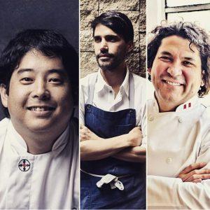 Micha Tsumura, Virgilio Martínez y Gastón Acurio. Trío de ases de la cocina peruana.